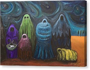 The Nativity  Canvas Print by Kazuya Akimoto