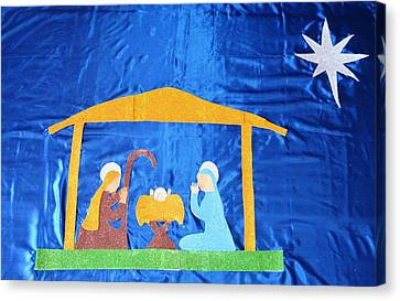 Canvas Print featuring the painting The Nativity  by Magdalena Frohnsdorff