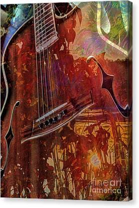 The Nature Of Music Digital Guitar Art By Steven Langston Canvas Print