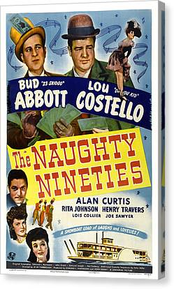 Collier Canvas Print - The Naughty Nineties, Bud Abbott, Lou by Everett