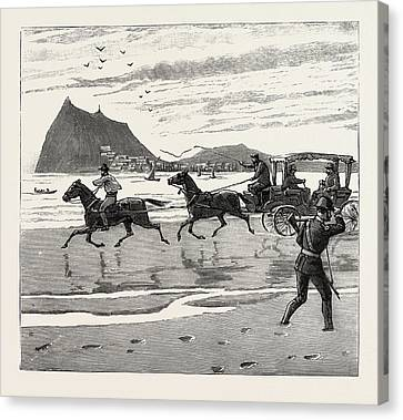 Orthodox Canvas Print - The Navy Cup At Gibraltar, Returning Home Across The Sands by English School