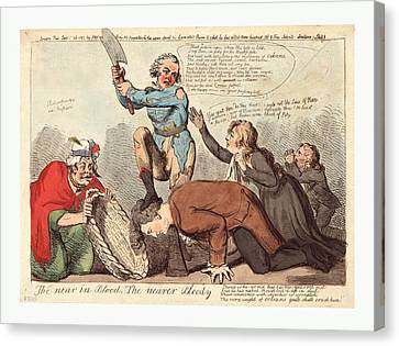 The Near In Blood, The Nearer Bloody, Cruikshank, Isaac Canvas Print