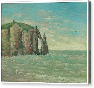 The Needle At Etretat Canvas Print by Claude Emile Schuffenecker