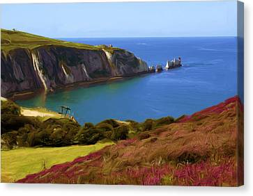 The Needles Canvas Print by Ron Harpham