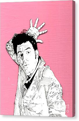 The Neighbor On Pink Canvas Print by Jason Tricktop Matthews