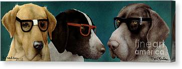 The Nerd Dogs... Canvas Print by Will Bullas