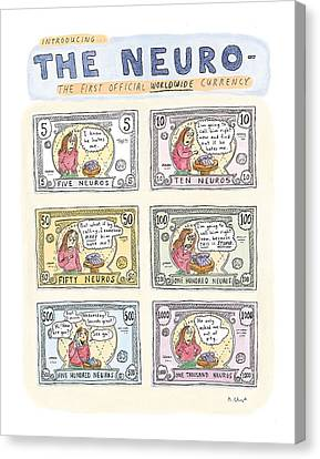 The Neuro  -   The First Official Worldwide Canvas Print by Roz Chast