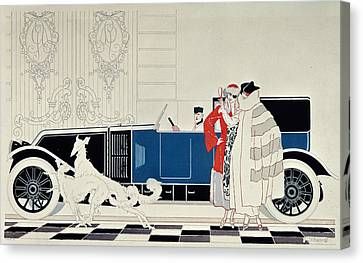 The New 6 Cylinder Renault, C 1920 Canvas Print by Rene Vincent