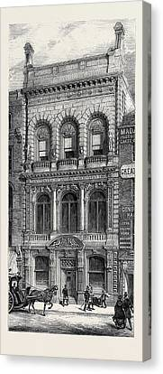 The New Building Of The Art Union Of London 1880 Canvas Print