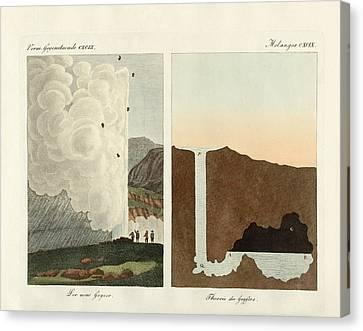 The New Geyser Canvas Print by Splendid Art Prints
