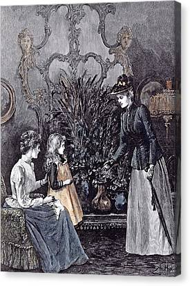 The New Governess Canvas Print by English School