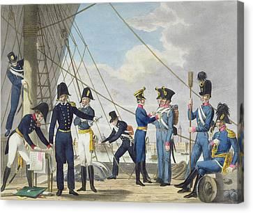 The New Imperial Royal Austrian Navy Canvas Print by Phillip von Stubenrauch