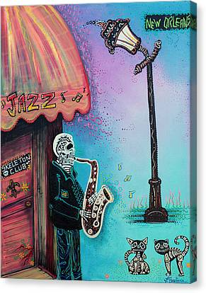 The New Orleans Skeleton Club Canvas Print by Laura Barbosa