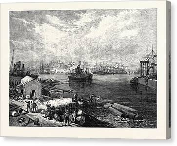 The New Overland Route To India Town And Port Of Brindisi Canvas Print