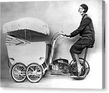 The New Pramobile Canvas Print by Underwood Archives