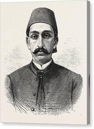 The New Sultan Of Turkey, Hamid II Canvas Print by Turkish School