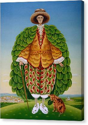 The New Vestments Ivor Cutler As Character In Edward Lear Poem, 1994 Oils And Tempera On Panel Canvas Print