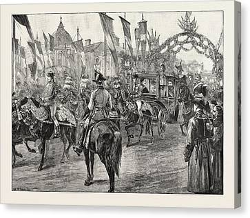 The Newly Married Crown Prince And Princess Of Romania Canvas Print
