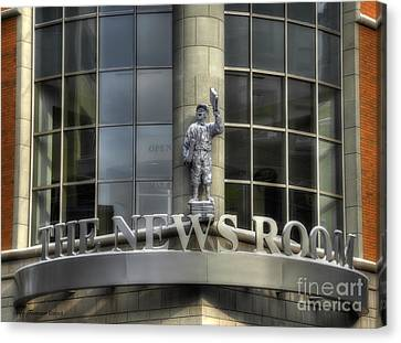 Canvas Print featuring the photograph The News Room by Trey Foerster