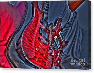 The Next Red Thing Digital Guitar Art By Steven Langston Canvas Print by Steven Lebron Langston