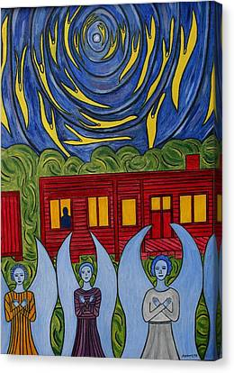 The Night Angels Came Canvas Print