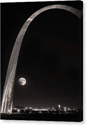 Silver Moonlight Canvas Print - The Night Arch by Steven Michael