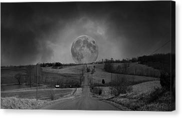 Country Scene Canvas Print - The Night Begins by Betsy Knapp