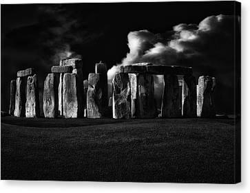 United Kingdom Canvas Print - The Night Of Stonehenge by Stefan Eisele