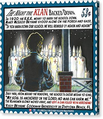 Canvas Print - The Night The Klan Backed Down by Warren Clark