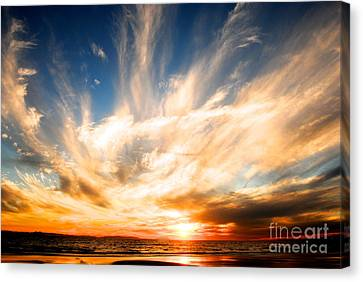 The Night The Sunset Danced Canvas Print by Margie Amberge