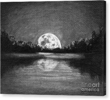The Night Walked Down The Sky Canvas Print by J Ferwerda