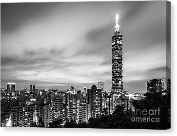 The Nights Of Taipei Canvas Print