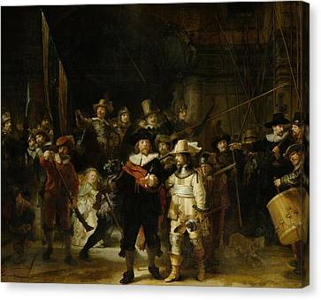 Drummer Canvas Print - The Nightwatch, 1642 Oil On Canvas by Rembrandt Harmensz. van Rijn