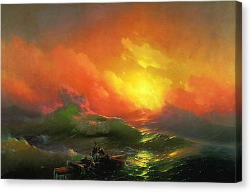 The Ninth Wave 1850 By Aivazovsky Canvas Print by Movie Poster Prints