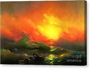 The Ninth Wave Canvas Print by Pg Reproductions