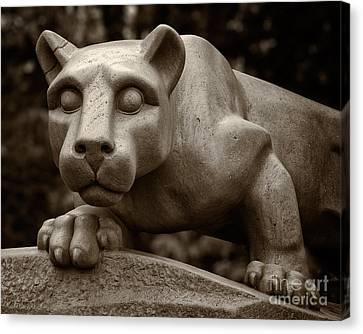 Penn State Canvas Print - The Nittany Lion Shrine by Mark Miller