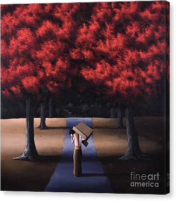 Canvas Print featuring the painting The Noble Art Of Thinking Outside Of The Box by Ric Nagualero
