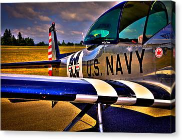 Vintage Airplane Canvas Print - The North American L-17 Navion Aircraft by David Patterson