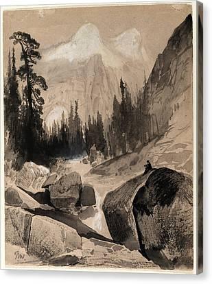 Thomas Moran Canvas Print - The North Dome Yosemite California by Thomas Moran