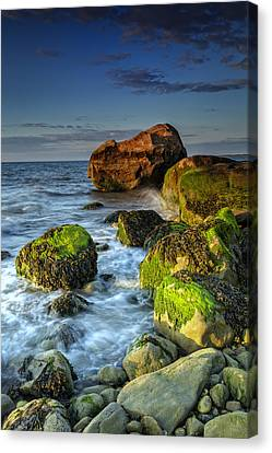 The North Fork's Rocky Shore Canvas Print by Rick Berk