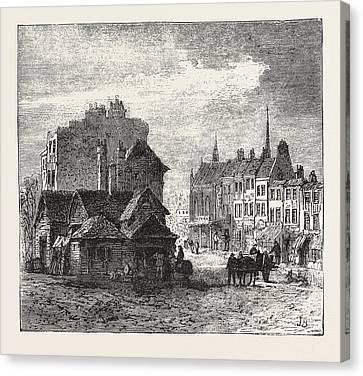 The North Of London, Highgate High Street, Engraving 1876 Canvas Print by English School