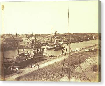 The North Sea Canal At Ijmuiden, Anonymous Canvas Print