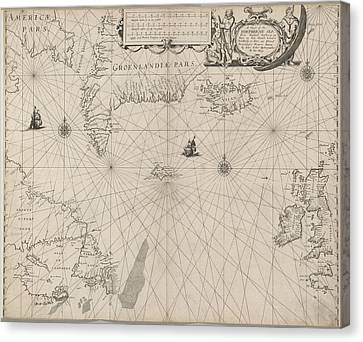 The North Seaa Chart Canvas Print by British Library
