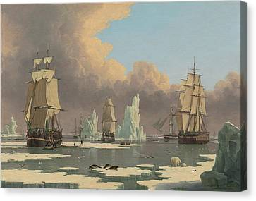 The Northern Whale Fishery Canvas Print by John of Hull Ward