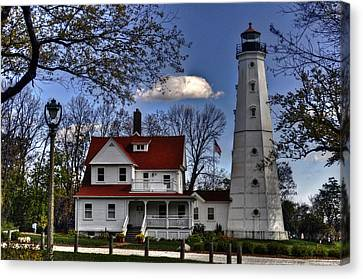 Canvas Print featuring the photograph The Northpoint Lighthouse by Deborah Klubertanz