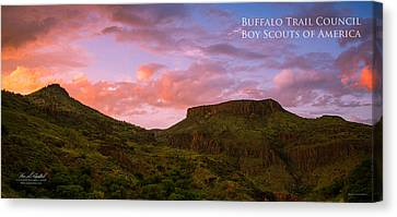 The Notch At Sunset - Pano Canvas Print