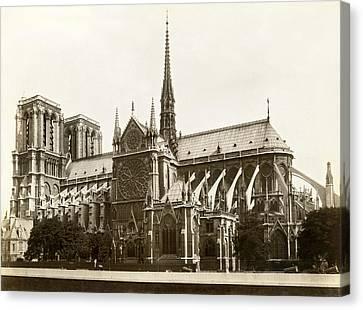 The Notre Dame De Paris Canvas Print by Jules Hautecoeur