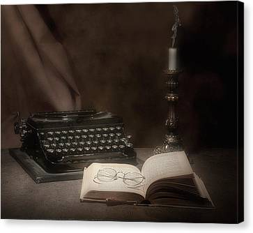 The Novelist Still Life Canvas Print by Tom Mc Nemar