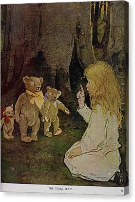 Goldilocks Canvas Print - The Now-a-days Fairy Book by British Library