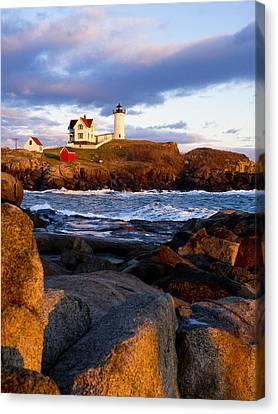 The Nubble Lighthouse Canvas Print by Steven Ralser